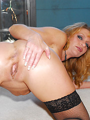 Butt slut housewife takes a thick one in the dirt pipe!