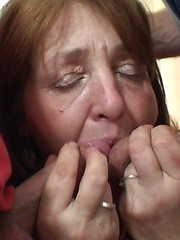 She is brimming with desire and they make her happy by giving her two hard dicks