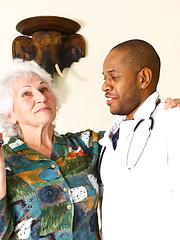 Black doctor fucks his silver granny patient Marimar
