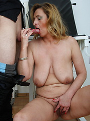 This horny mature slut loves her visits to the doctor