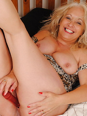 Horny British housewife getting wet and wild