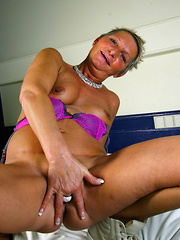 Naughty Dutch housewife playing with herself