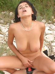 Malina Extasi Fucking On Beach