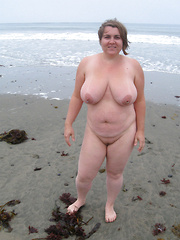 Busty mature dames flashing on the roads and beaches