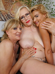 Three naughty old and young lesbians make it wild