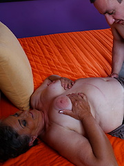 Horny mature lady doing her younger boyfriend