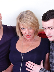 Two horny dudes doing a very naughty British housewife
